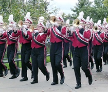 Wolverine Marching Band hits the road