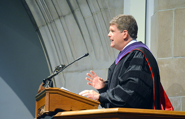 McNulty presides over Opening Convocation