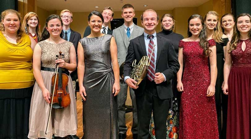 Grove City College Concerto/Aria competition participants